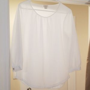 White J Crew factory blouse